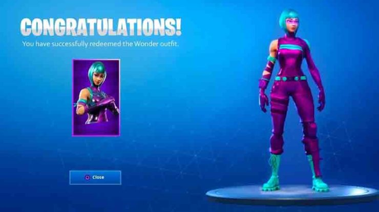 Fortnite: The Honor 20 and 20 Pro Wonder Skin on the Black Market