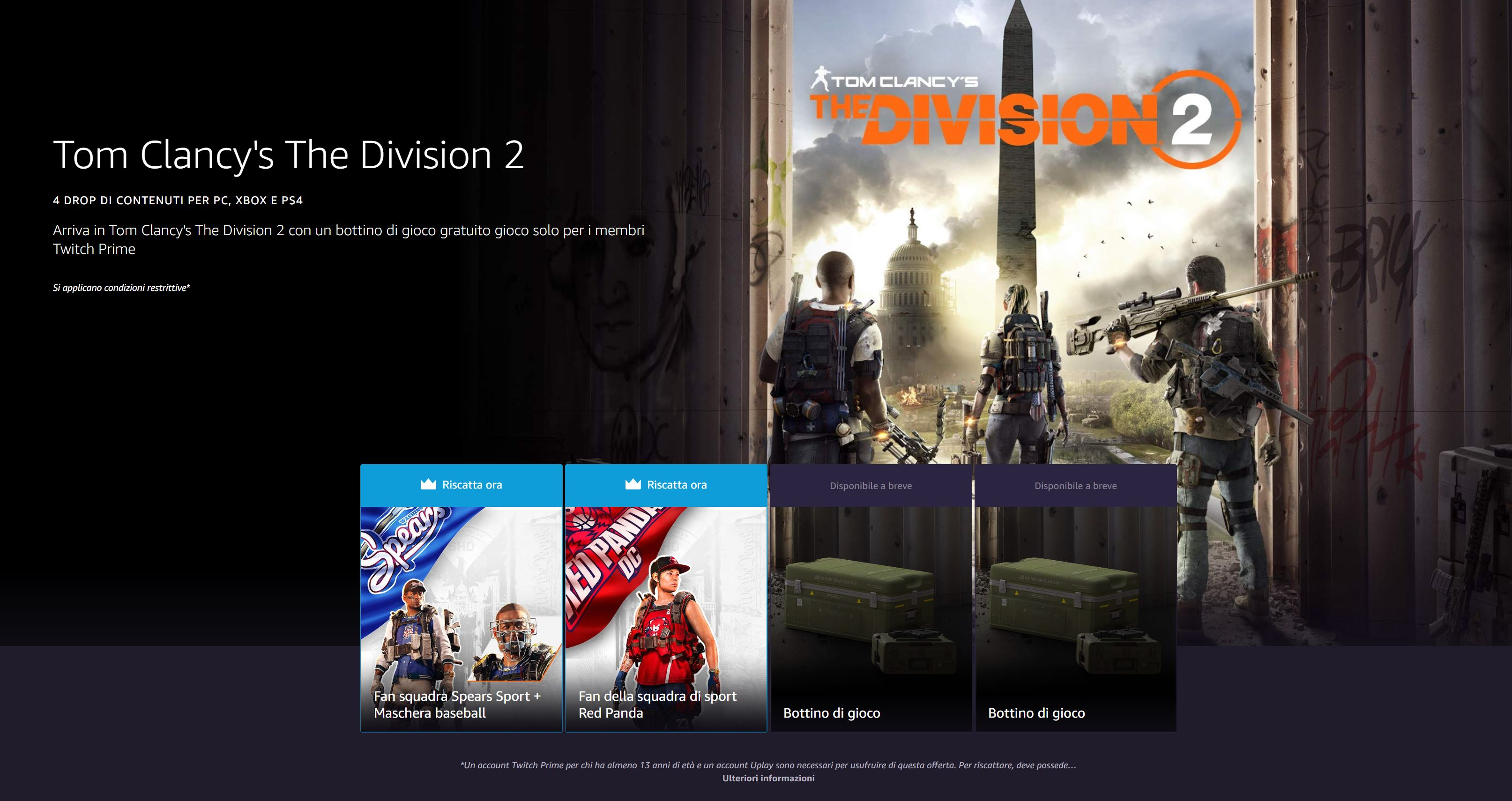 The Division 2: The New Twitch Prime Pack With the Red Panda